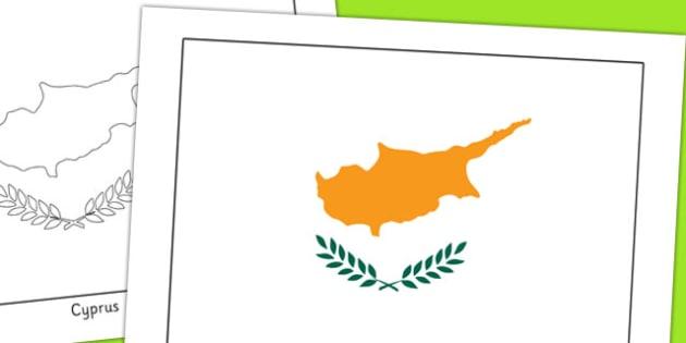 Cyprus Flag Display Poster - geography, countries, display
