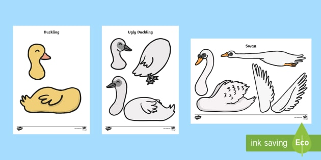 The Ugly Duckling Split Pin Characters - stories, book, role play