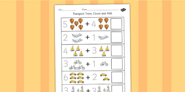 Transport Trace Count and Add Worksheet - Worksheets, Adding
