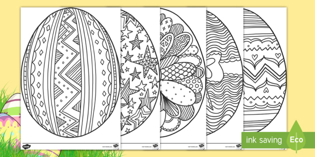 New Easter Egg Mindfulness Colouring Pages English Spanish Eal