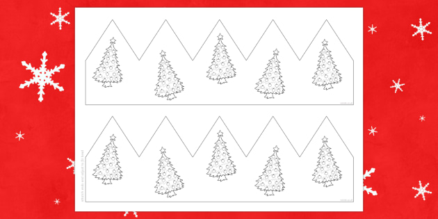 Christmas Tree Party Hat Template Activity