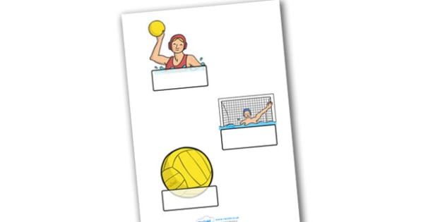 The Olympics Water Polo Self Registration - Water Polo, Olympics, Olympic Games, sports, Olympic, London, 2012, Self registration, register, editable, labels, registration, child name label, printable labels, activity, Olympic torch, events, flag, co
