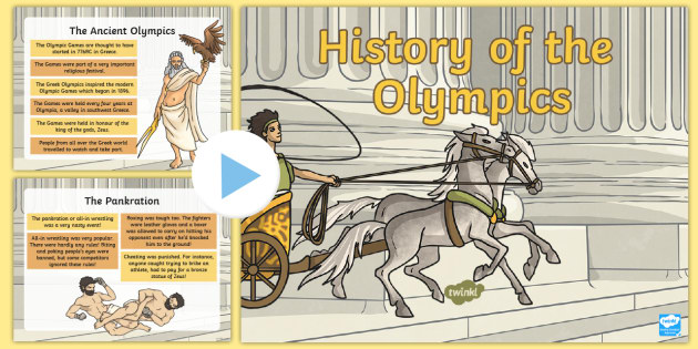 History of the Olympics PowerPoint - History of the Olympics