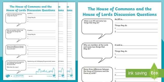 Uk parliament house of commons and house of lords discussion uk parliament house of commons and house of lords discussion questions activity sheet house ccuart Gallery