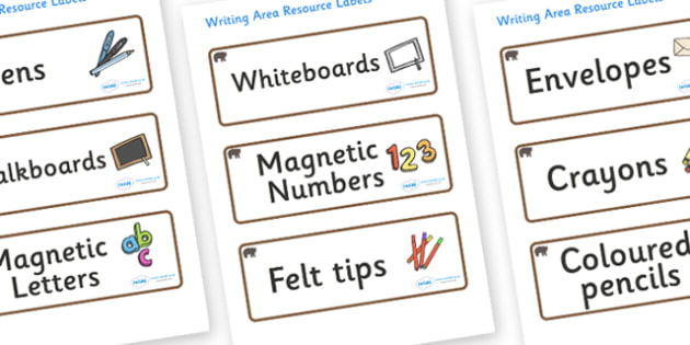 Bear Themed Editable Writing Area Resource Labels - Themed writing resource labels, literacy area labels, writing area resources, Label template, Resource Label, Name Labels, Editable Labels, Drawer Labels, KS1 Labels, Foundation Labels, Foundation S