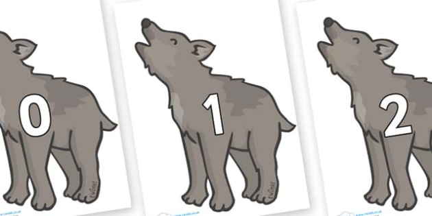 Numbers 0-31 on Wolf Cubs - 0-31, foundation stage numeracy, Number recognition, Number flashcards, counting, number frieze, Display numbers, number posters