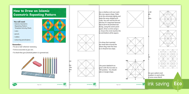 How to draw an islamic geometric repeating pattern step by step how to draw an islamic geometric repeating pattern step by step instructions islamic ccuart Images