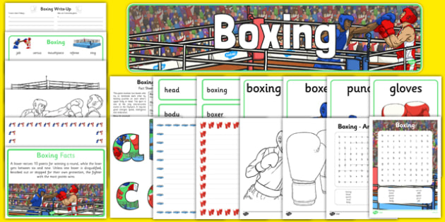 Rio 2016 Olympics Boxing Resource Pack - Boxing, Olympics, Olympic Games, sports, Olympic, London, 2012, resource pack, pack resources, activity, Olympic torch, events, flag, countries, medal, Olympic Rings, mascots, flame, compete