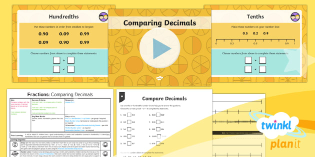 PlanIt Maths Y4 Fractions Lesson Pack Compare Decimals