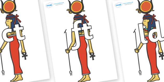 Final Letter Blends on Egyptian Women - Final Letters, final letter, letter blend, letter blends, consonant, consonants, digraph, trigraph, literacy, alphabet, letters, foundation stage literacy
