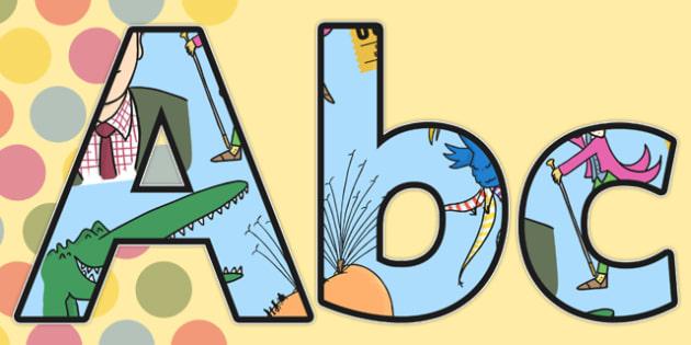Roald Dahl Display Lettering -  Roald Dahl, display lettering, roald dahl display, roald dahl lettering, display letters, roald dahl letters