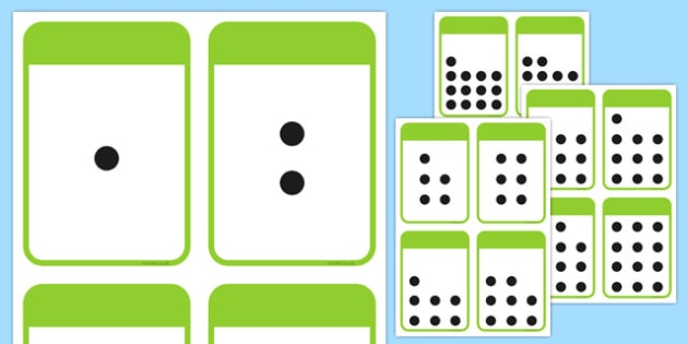 Count the Spots Activity Cards (1-20) - education, home fun, free