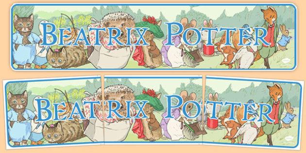 Beatrix Potter Display Banner - beatrix potter, display banner, display, banner