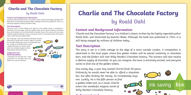 charlie and the chocolate factory book review pdf