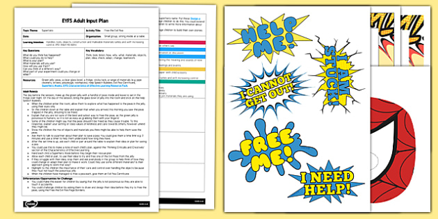 EYFS Free the Evil Pea Adult Input Plan and Resource Pack