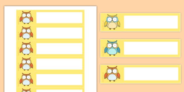 Superb Owl Themed Gratnells Tray Labels - superb owl, gratnells, tray labels, tray, labels, display, super bowl