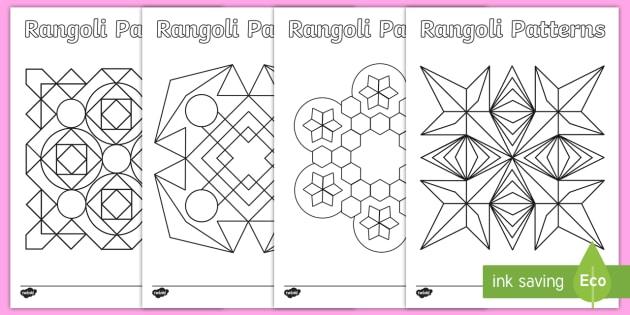 Patterns Templates - Diwali Colouring Patterns