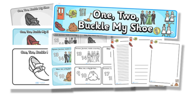 image relating to One Two Buckle My Shoe Printable called A single, 2, Buckle My Shoe - Training Components - Twinkl