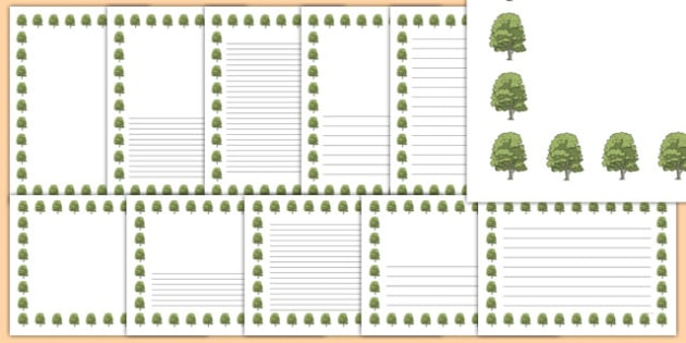 Ash Tree Themed Page Borders - ash tree, themed, page borders, page, borders, ash, tree
