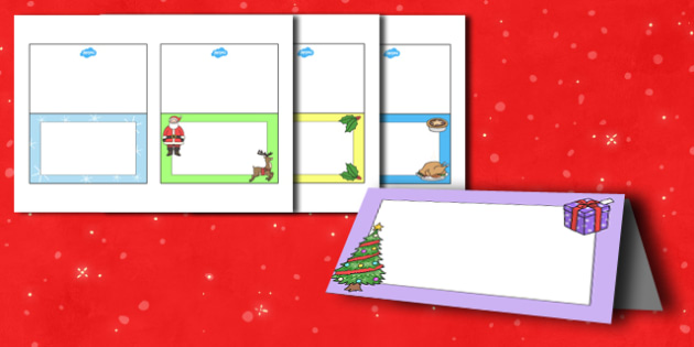 My Christmas Meal Place Cards Editable - christmas, place cards