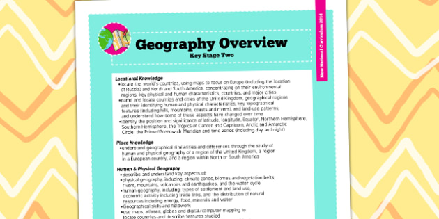 2014 Curriculum KS2 Geography Overview - new curriculum, plans