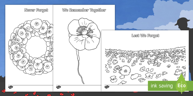Floral tributes for you, you are always in my heart coloring pages | Remembrance  day poppy, Remembrance day art, Remembrance day activities | 315x630