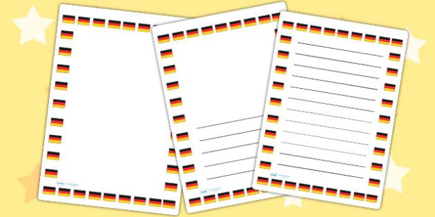 German Flag Page Borders - german, flag, page borders, borders