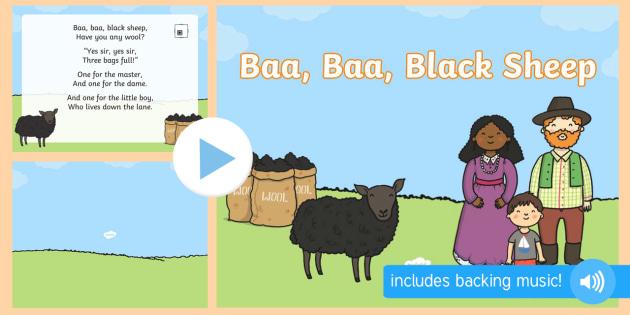 Baa, Baa, Black Sheep PowerPoint