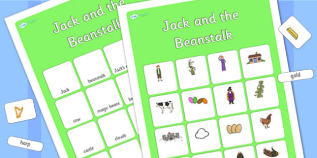 Jack and the Beanstalk Matching Vocabulary Mat - jack and the beanstalk, vocabulary mat, word mat, key words, topic words, word poster, vocabulary poster