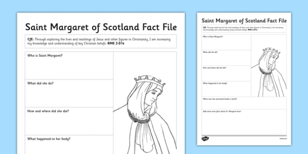Saint Margaret Fact File - cfe, saint margaret, saint, st margaret, fact file