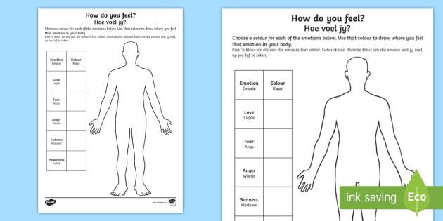 Mindful Me: How Do You Feel? Worksheet / Activity Sheet