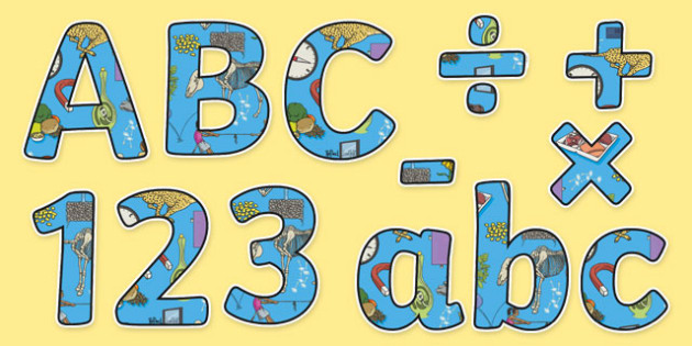 Science Themed Display Letters and Numbers Pack - Science lettering, Science display, Science display lettering, science, display lettering, display, letter, number