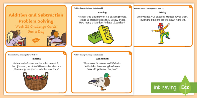 Week 9 - Problem Solving - Addition and Subtraction Challenge