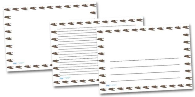 Swift Landscape Page Borders- Landscape Page Borders - Page border, border, writing template, writing aid, writing frame, a4 border, template, templates, landscape