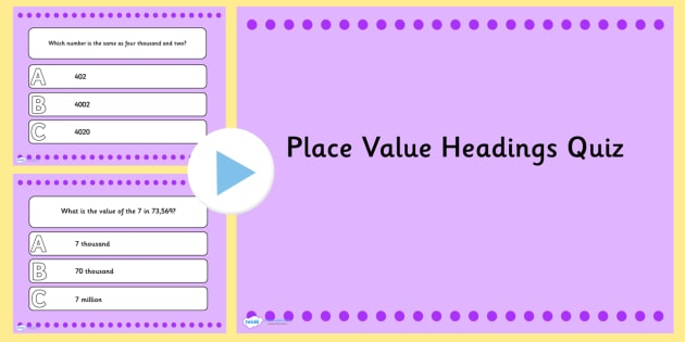 Place Value Headings PowerPoint - place value, headings, ppt