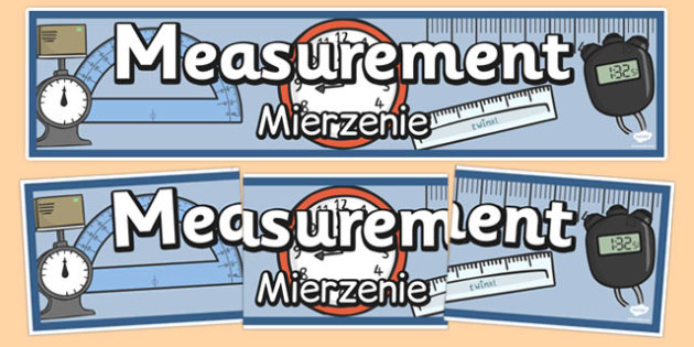 Measurement Display Banner Polish Translation - polish, measures, measurement, display, banner, poster, sign, length, capacity, weight, mass, time, different, measures, measuring