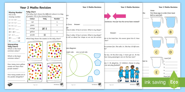 Year 2 Sats Parent S Maths Revision Activity Worksheets