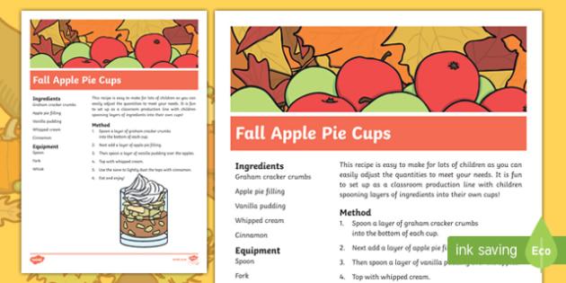 Fall Apple Pie Cups Recipe