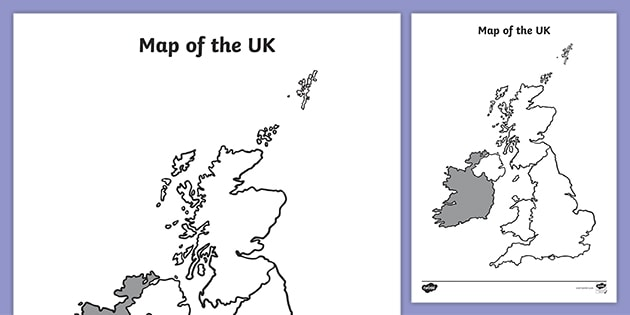 Blank Map Of The Uk Geography Primary Resources