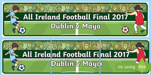 All Ireland Football Final 2017 Display Banner-Irish