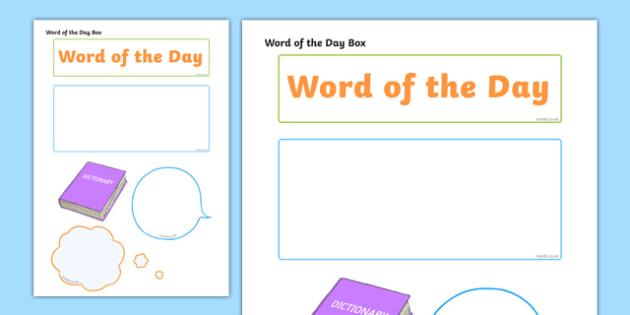 Word of the Day Themed Mug Box Decals Pack - mug box, decals, themed, pack, word of the day