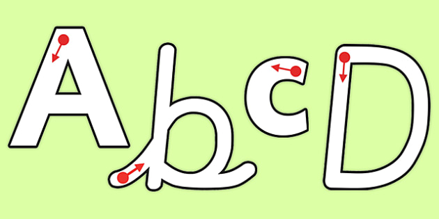 Letter Formation Themed Display Lettering - letters, display, formation