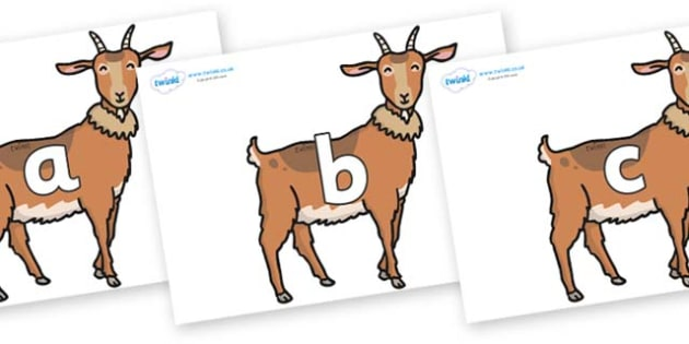 Phase 2 Phonemes on Medium Billy Goats - Phonemes, phoneme, Phase 2, Phase two, Foundation, Literacy, Letters and Sounds, DfES, display