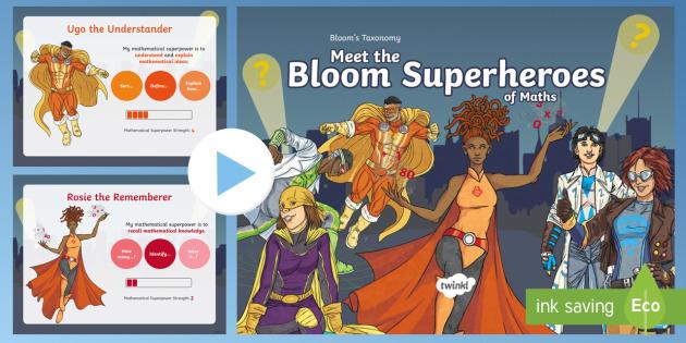 new ks2 maths bloom s taxonomy meet the bloom superheroes