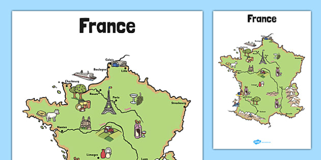 Cities Of France Map.Display Map Of France Display Map France French Cities Country