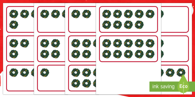 Advent Subitising Flashcards - maths, ten frames, numeracy