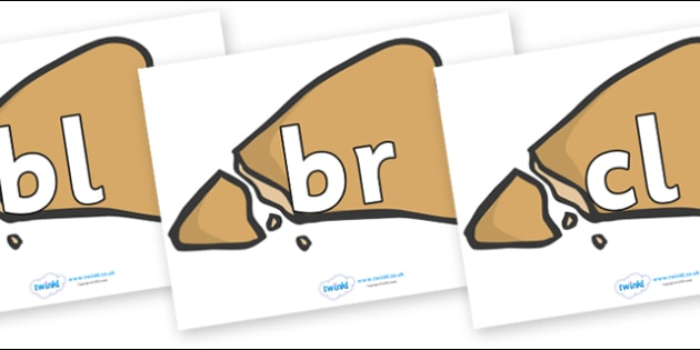 Initial Letter Blends on Egyptian Flatbread - Initial Letters, initial letter, letter blend, letter blends, consonant, consonants, digraph, trigraph, literacy, alphabet, letters, foundation stage literacy