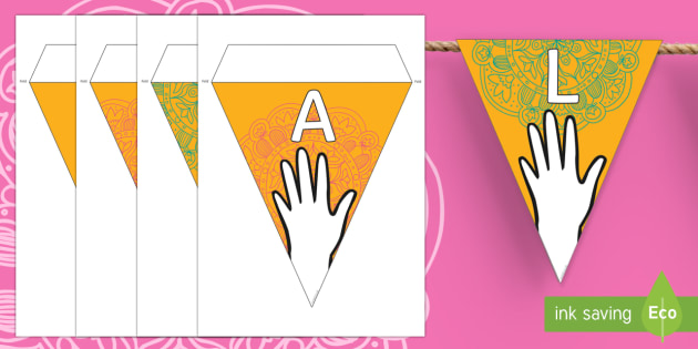 Design Your Own Mehndi Pattern Display Bunting