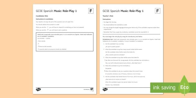 Music 1 Foundation Tier Role Play - Spanish Speaking Practice, music, concert, role play, foundation tier, entradas, speaking