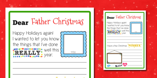 Scaffolded Letter to Father Christmas - scaffolded, letter, father christmas